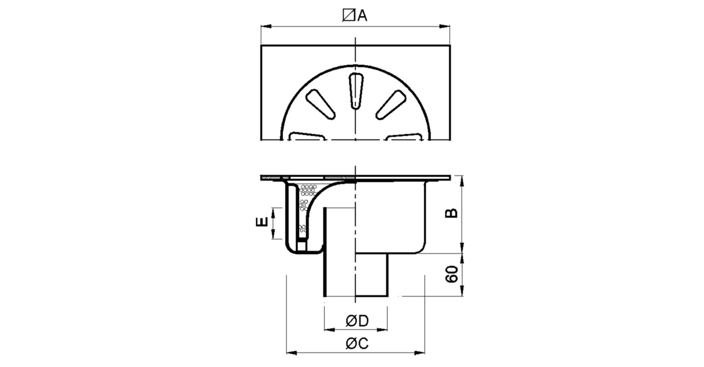 Sumidero 300x300mm [LEP005]