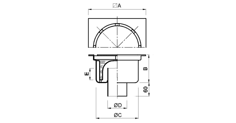 Sumidero 300x300mm reforzado [LEP007]