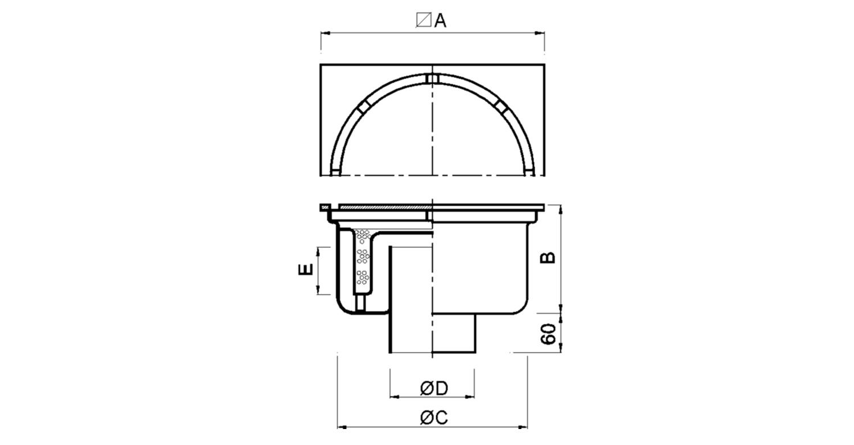 Sumidero 400x400mm reforzado [LEP010]