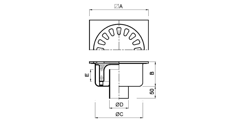Sumidero 250x250mm [LEP016]
