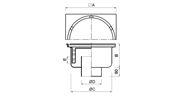 Sumidero 500x500mm reforzado [LEP019]