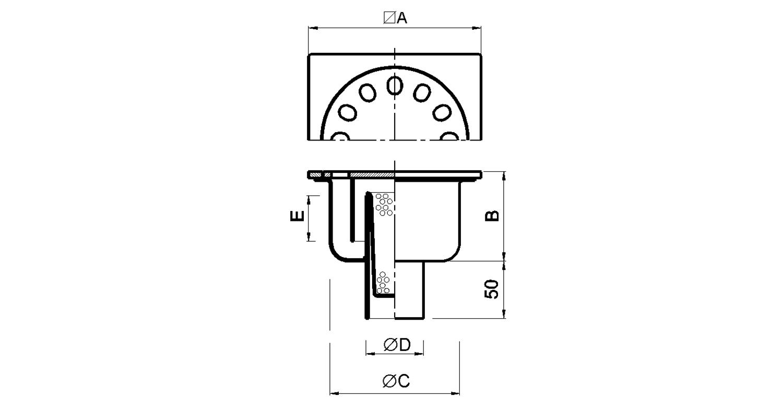 Sumidero 150x150mm [LEP024]