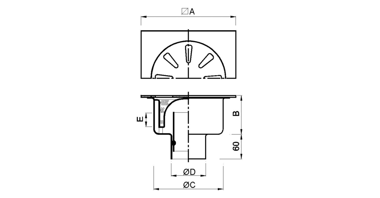 Sumidero 300x300mm con sifón exrtaíble [LEP026]