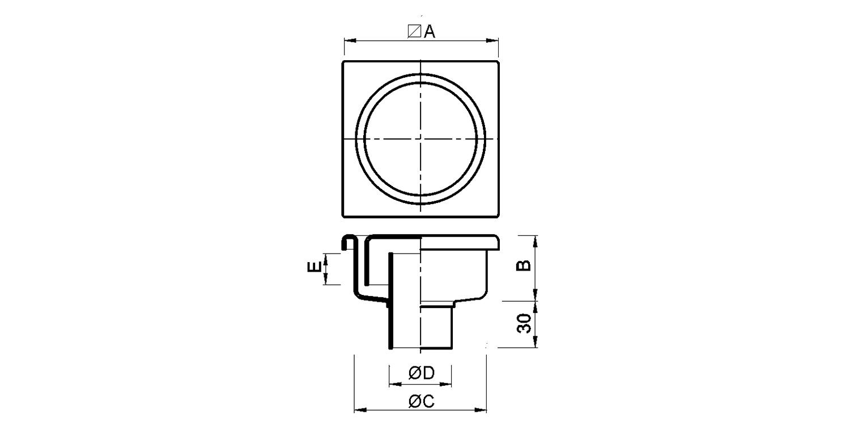 Sumidero 100x100mm [LEP062]